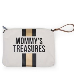 childhome CHILDHOME MOMMY CLUTCH OFF WHITE BLACK GOLD