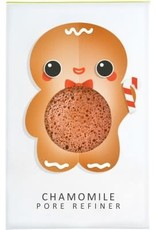 The Konjac Sponge Company Konjac Sponge Gingerbread Man Pure Mini Face Puff with Chamomile