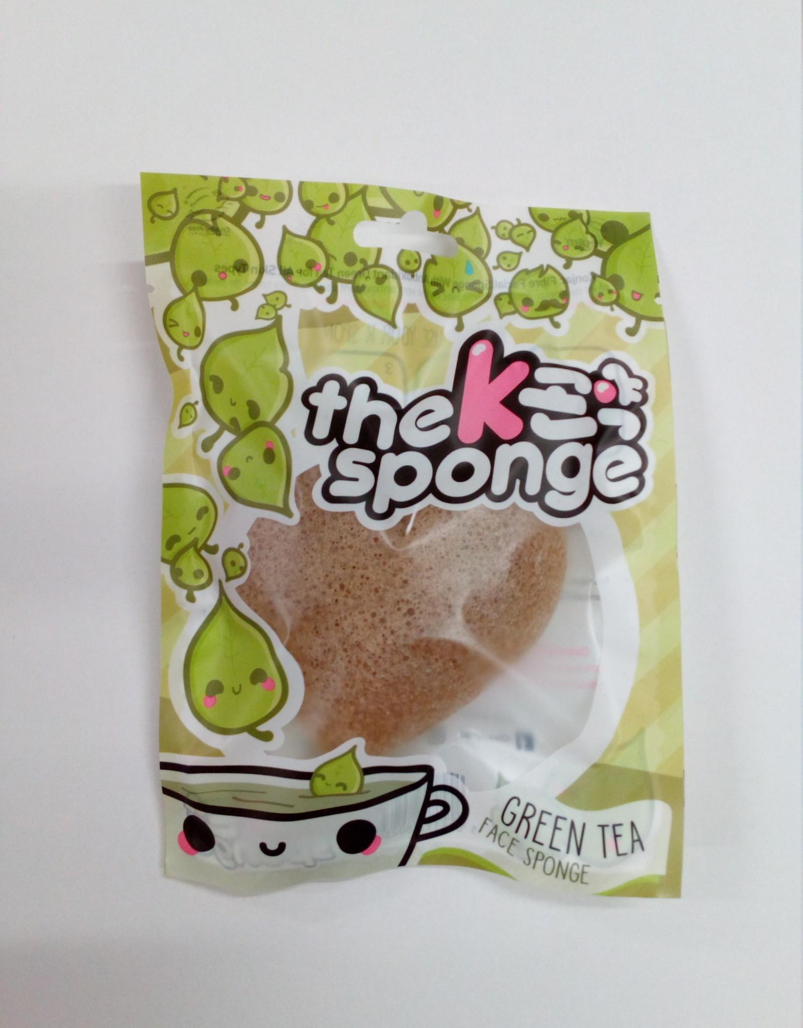 The Konjac Sponge Company Konjac Sponge K-Sponge Green Tea Heart