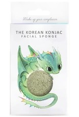 The Konjac Sponge Company Konjac Sponge Mythical Dragon Sponge Box and Hook Green Clay