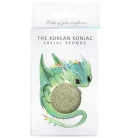 The Konjac Sponge Company Konjac Sponge Mythical Dragon Sponge Box and Hook Green Clay
