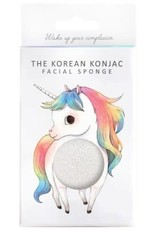 The Konjac Sponge Company Konjac Sponge Mythical Unicorn Standing Sponge and Hook White