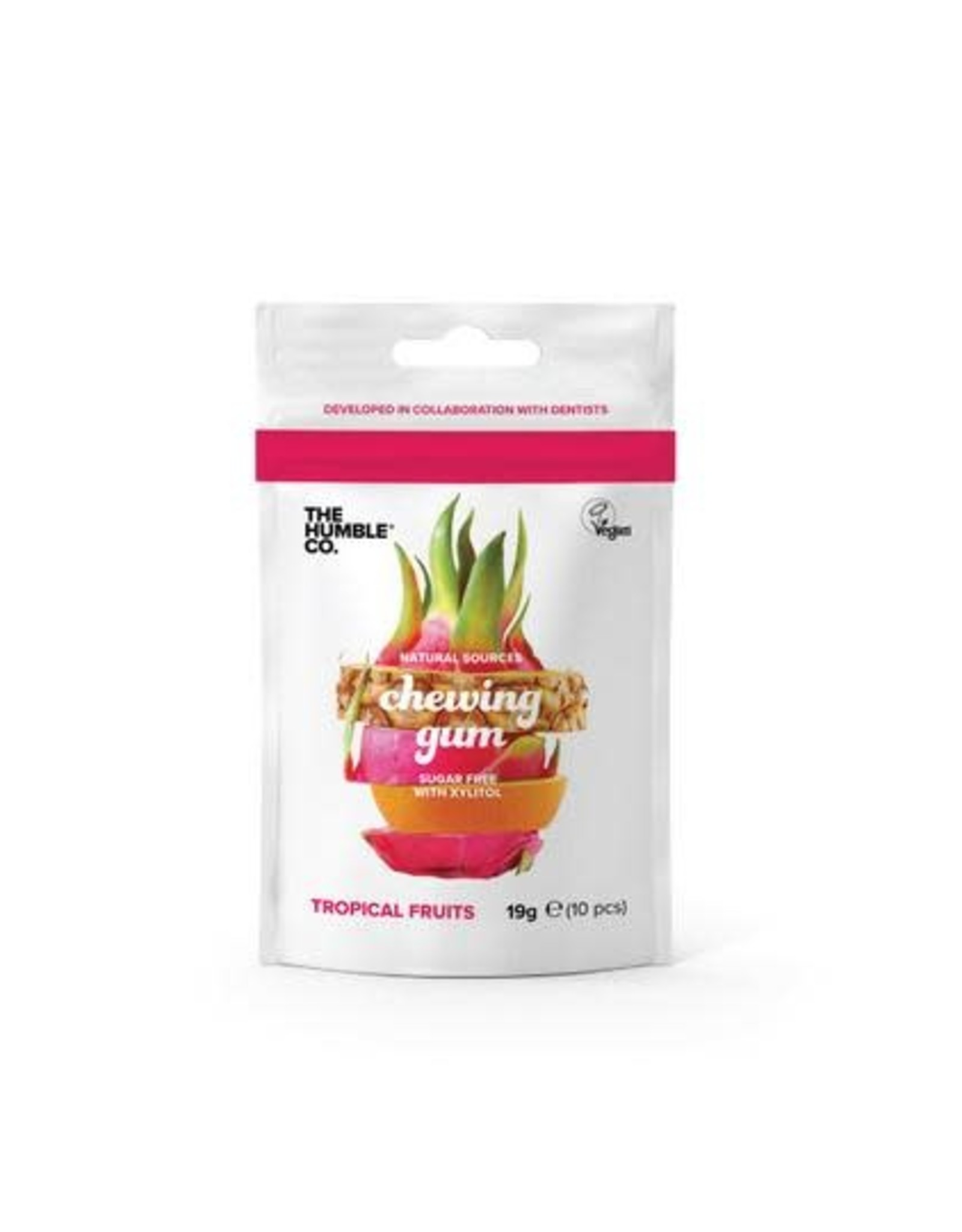 The Humble Co. Humble Chewing Gum sugar free Tropical Fruits 19g