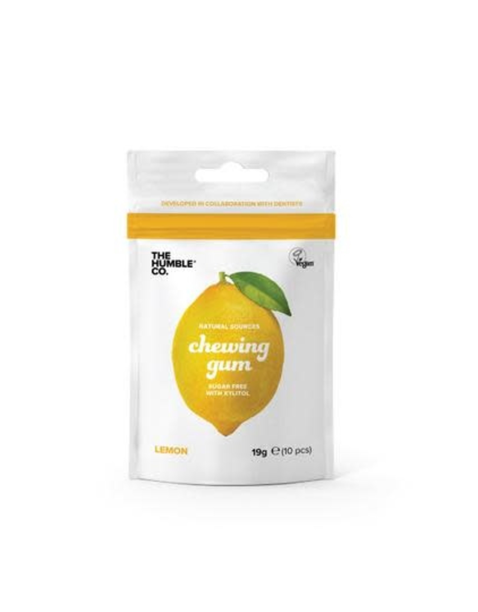 The Humble Co. Humble Chewing Gum sugar free Lemon 19g
