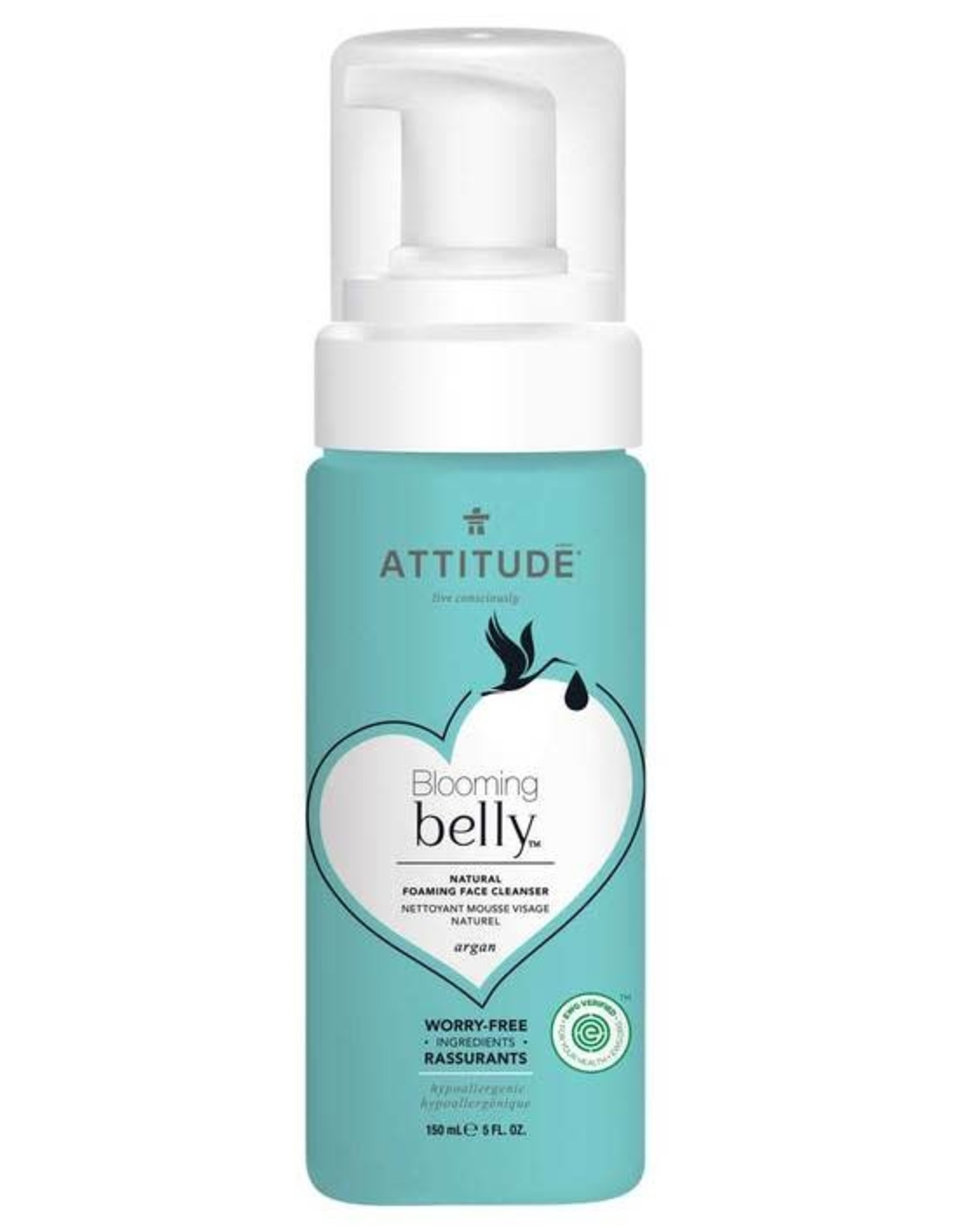 Attitude Blooming Belly Natural Foaming Face Cleanser 150ml