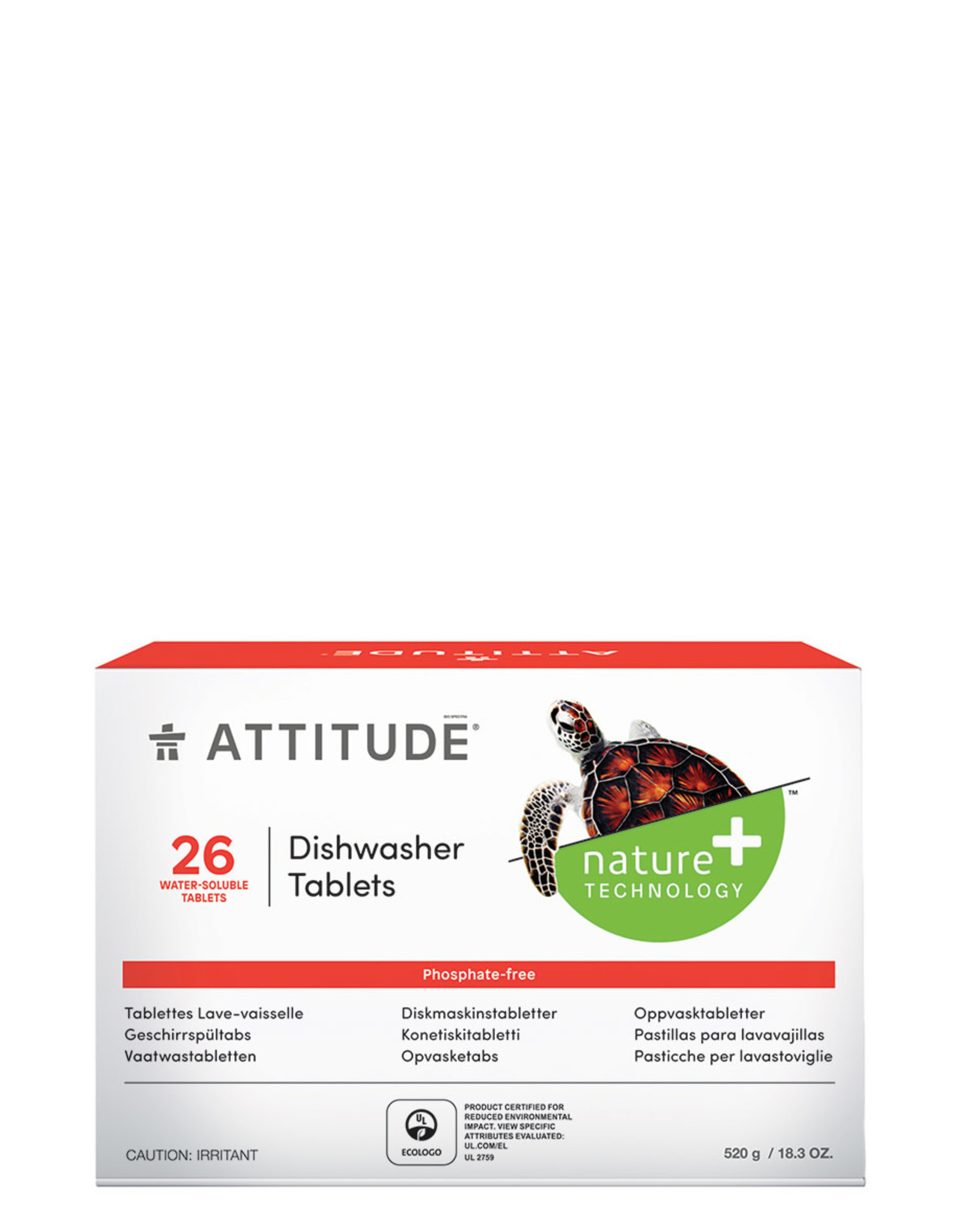 Attitude Attitude Dishwasher Tablets 26 Tablets