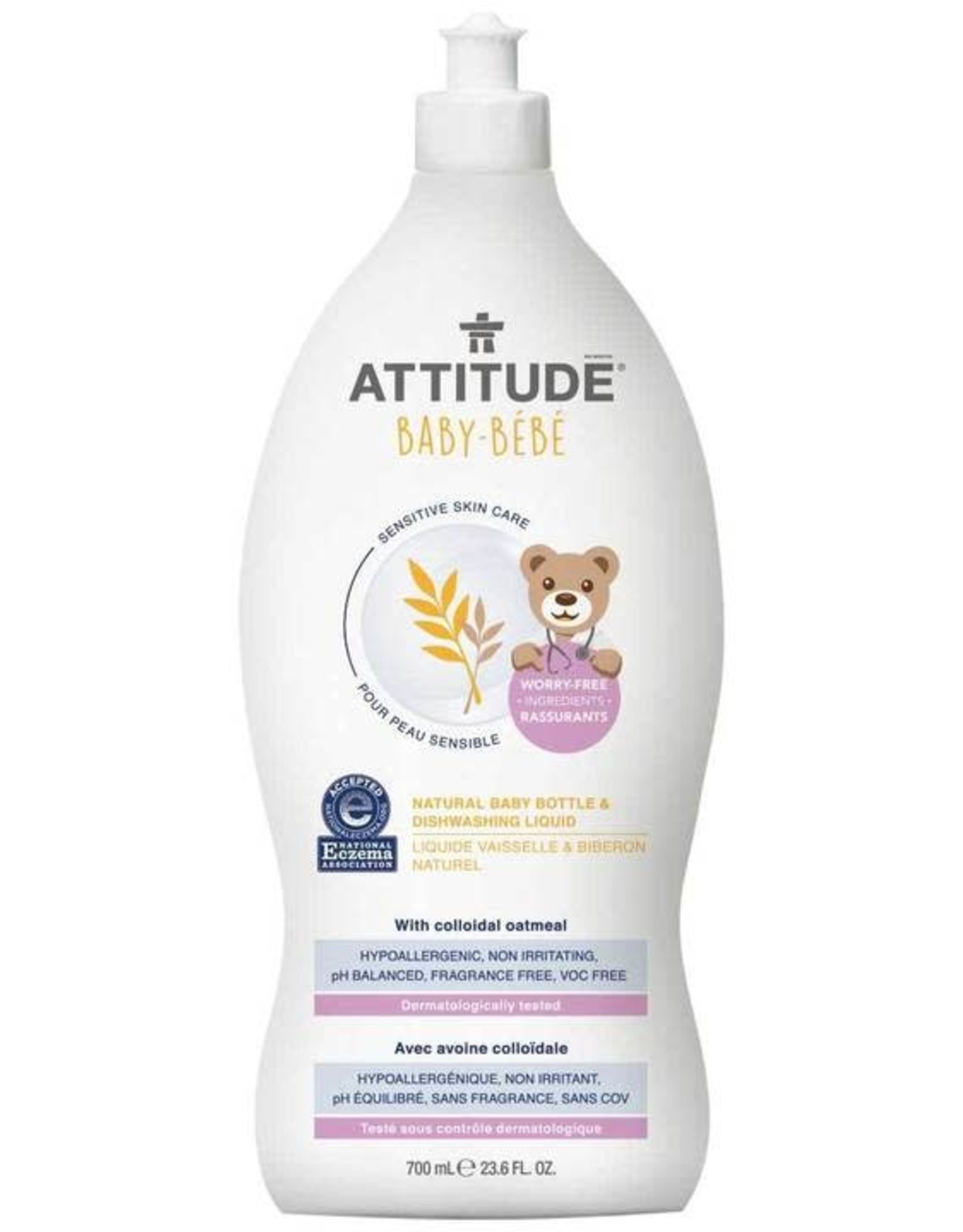 Attitude Sensitive Skin Care with Colloidal Oatmeal Afwasmiddel Bébé 700ml