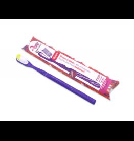 Lamazuna Tandenborstel Medium met vervangbaar kopje - Paars