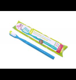 Lamazuna Tandenborstel Medium met vervangbaar kopje - Blauw