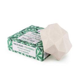 Lamazuna Scheerzeep in blok met karitéboter - Groene Thee & Citroen - Normale huid 55g