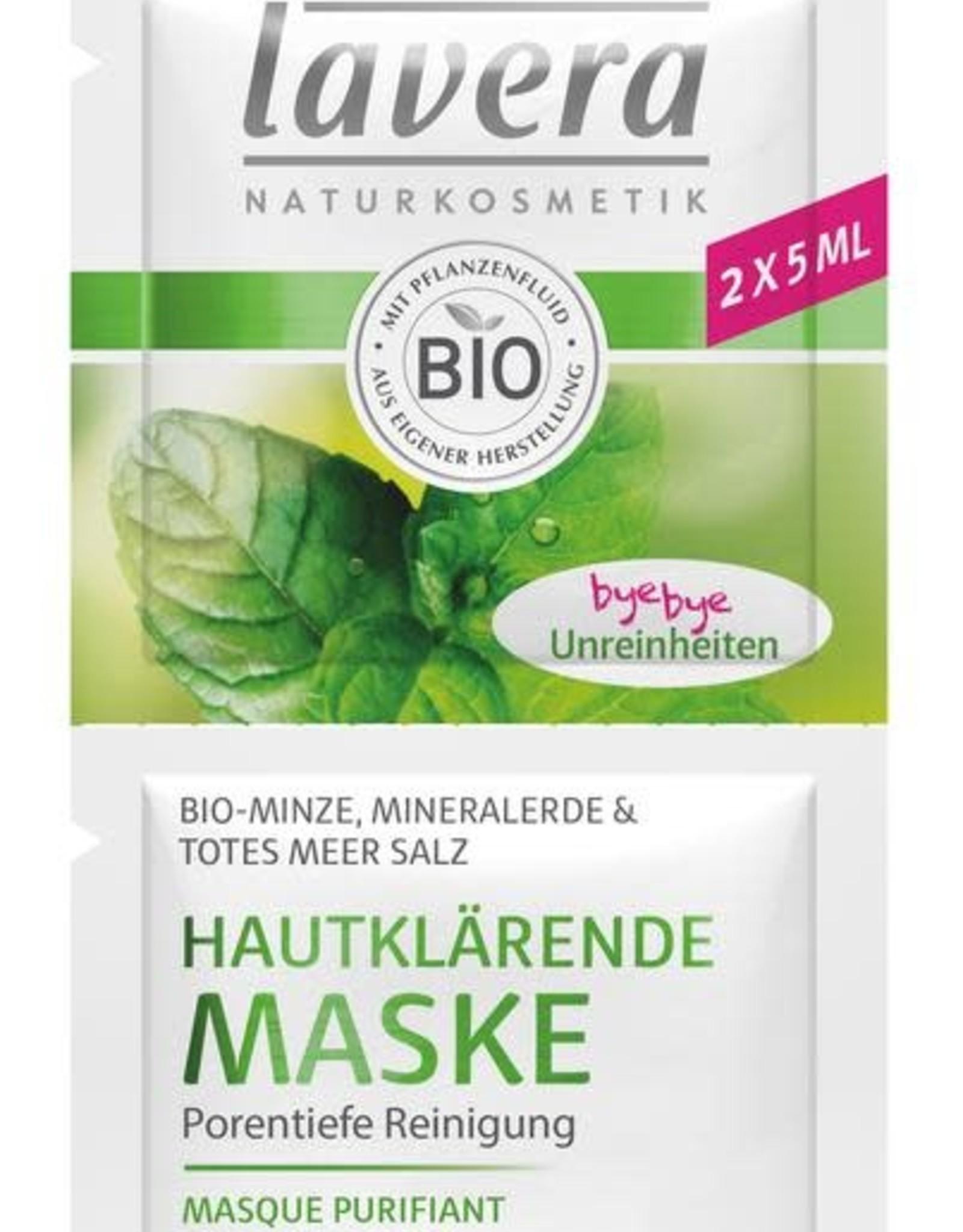 Lavera Gezichtsmasker Purifying Mask 2x 5ml