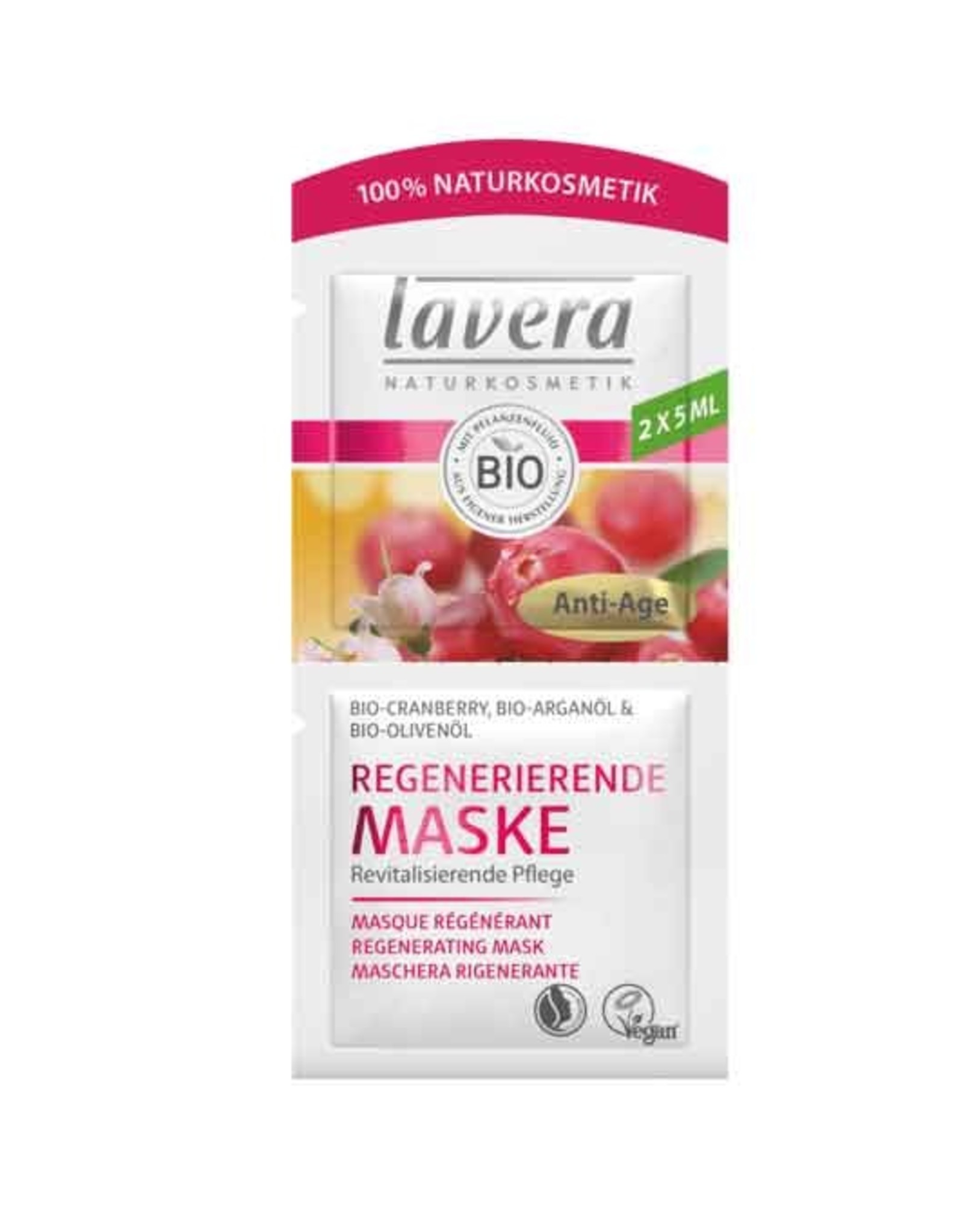 Lavera Gezichtsmasker Regenerating Mask 2x 5ml