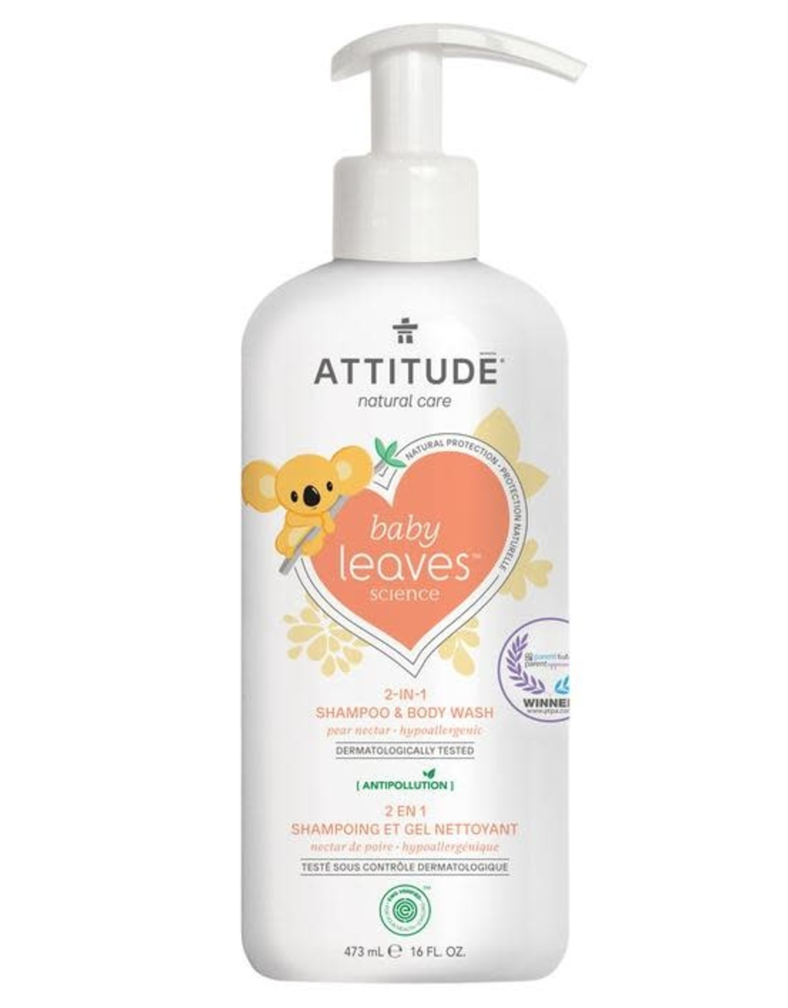Attitude Attitude Baby Leaves 2 in 1 Shampoo & Body Wash pear nectar 473 ml