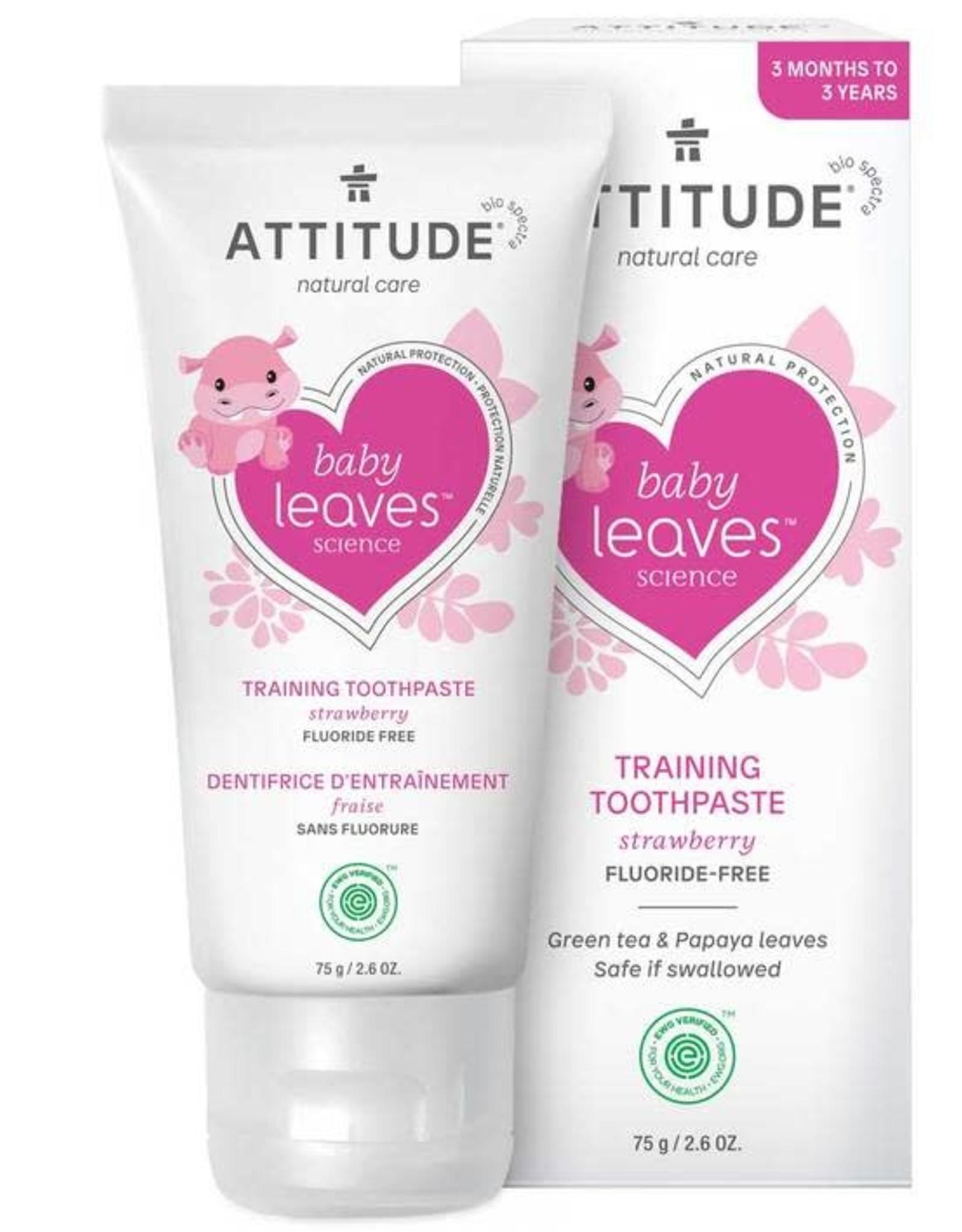 Attitude Attitude Baby Leaves Tandpasta Strawberry 75gr