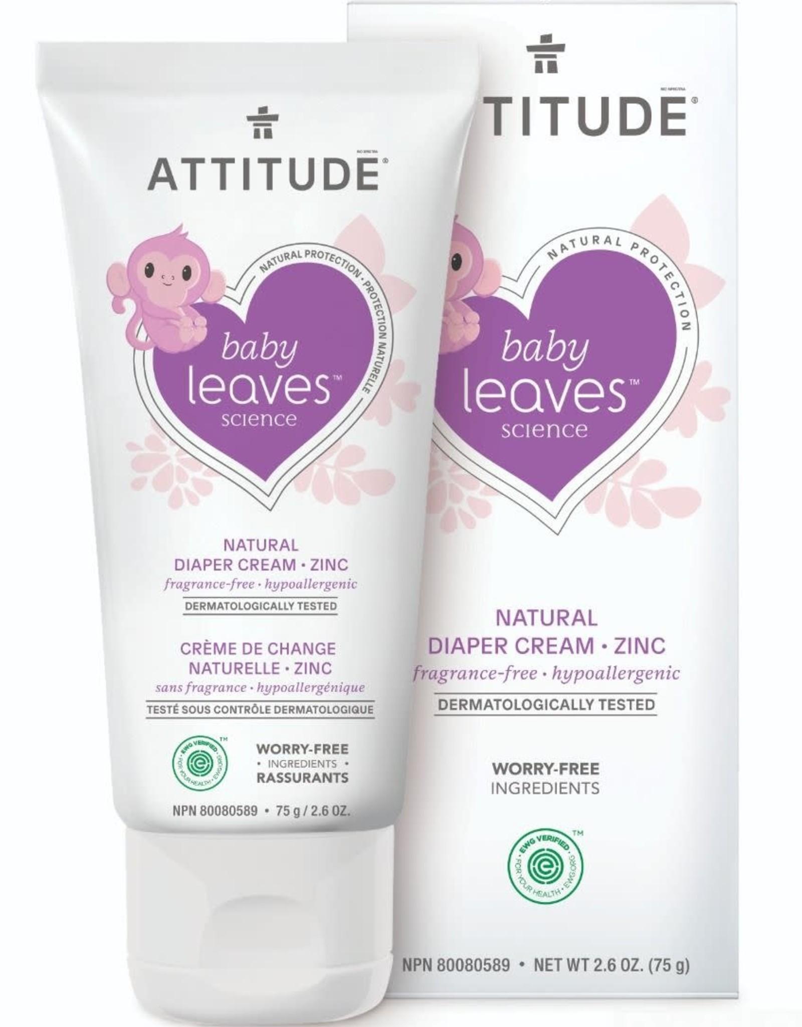 Attitude Attitude Baby Leaves Diaper Cream Zinc fragrance-free 75gr