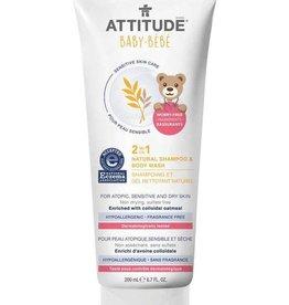 Attitude Attitude Sensitive Baby 2 in 1 Natural Shampoo & Body Wash 200 ml