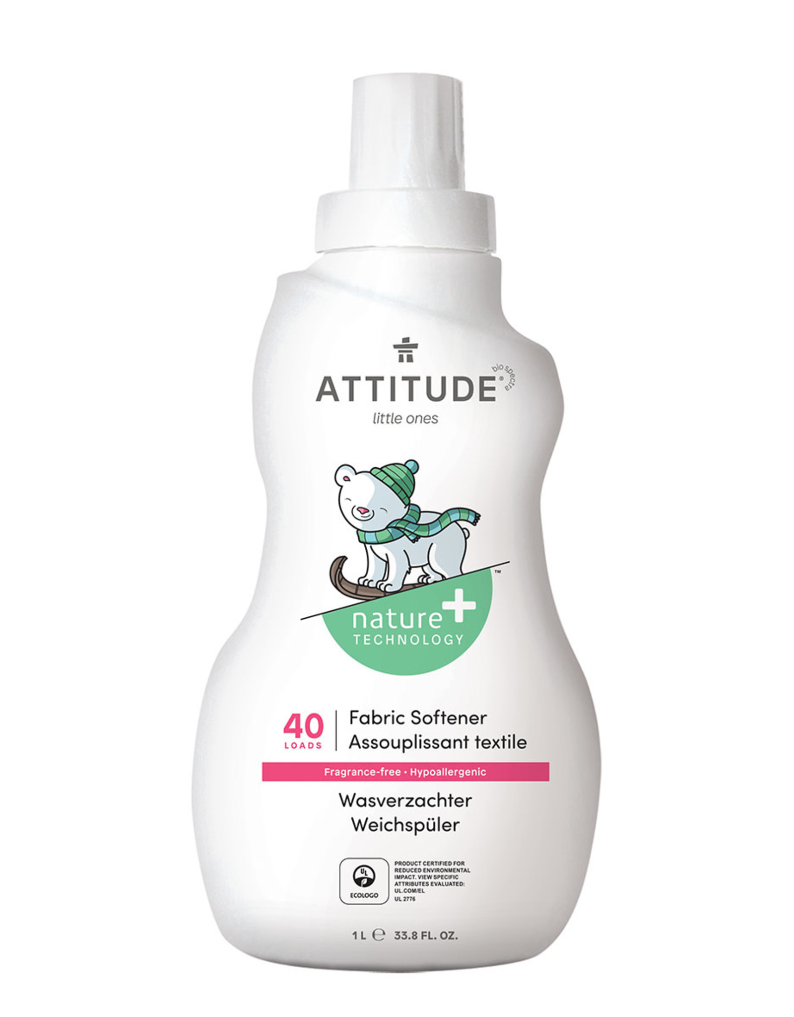 Attitude Attitude Little Ones Wasverzachter Fragrance-Free 1 L