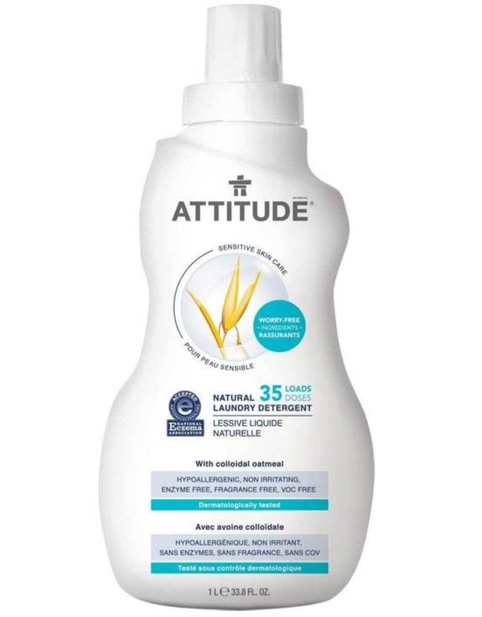 Attitude Attitude Sensitive Skin Natural Fabrick Detergent 1L