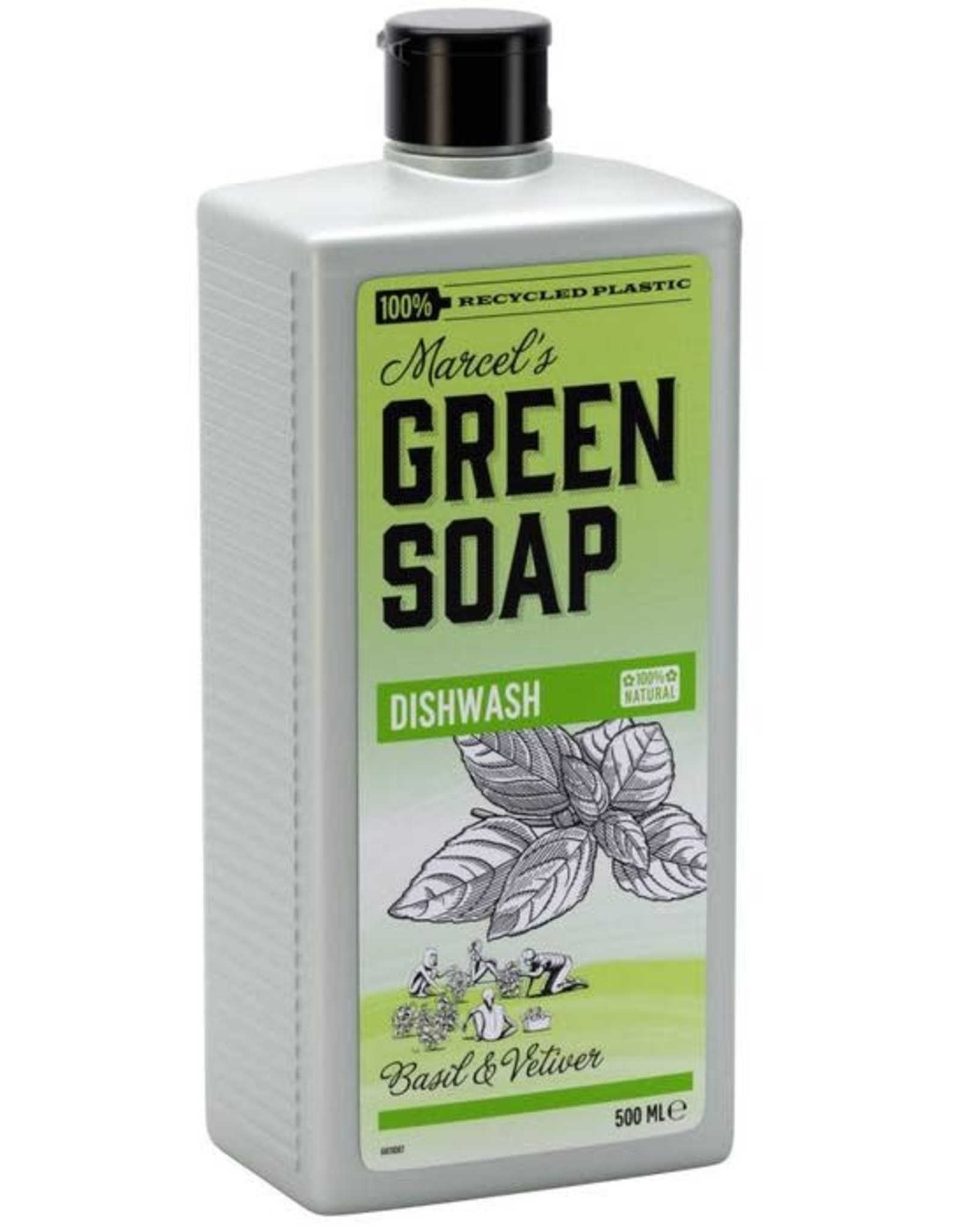 Marcel's Green Soap Afwasmiddel Basil & Vetiver 500 ml