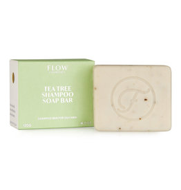 Flow Cosmetics Shampoo Soap Bar Teatree voor olieachtig haar en hoofdhuid 120 g