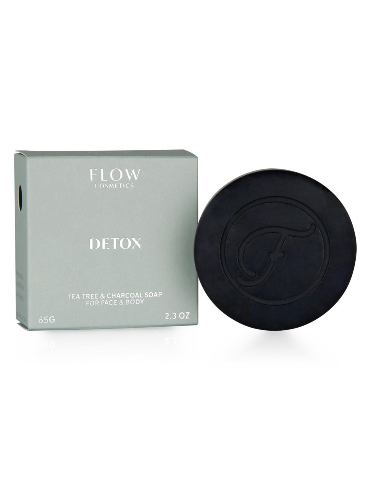Flow Cosmetics Detox - Tea Tree & Charcoal zeep voor gezicht & lichaam 65 g