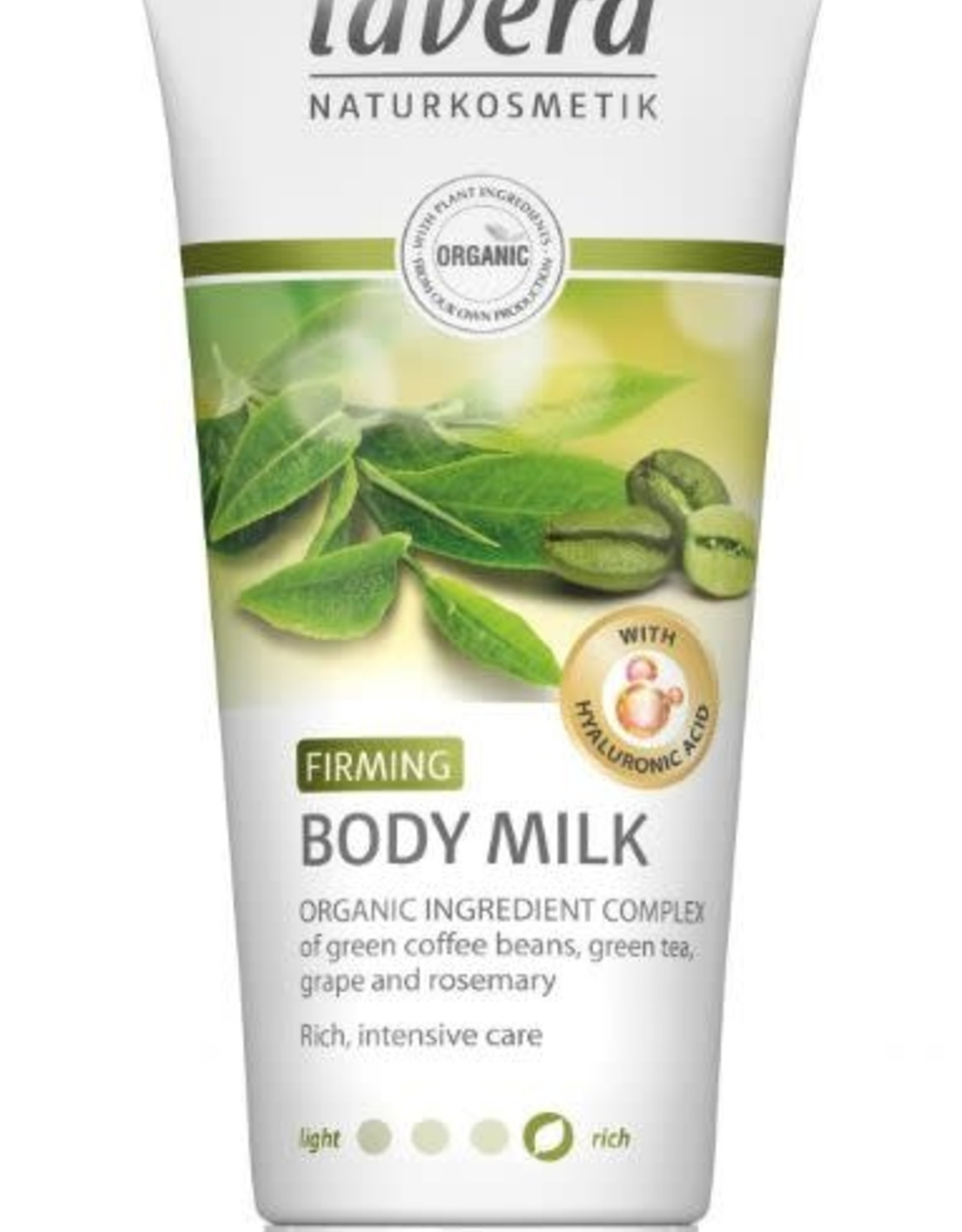 Lavera Bodymilk Firming coffee beans, green tea, grape and rosemary 200ml