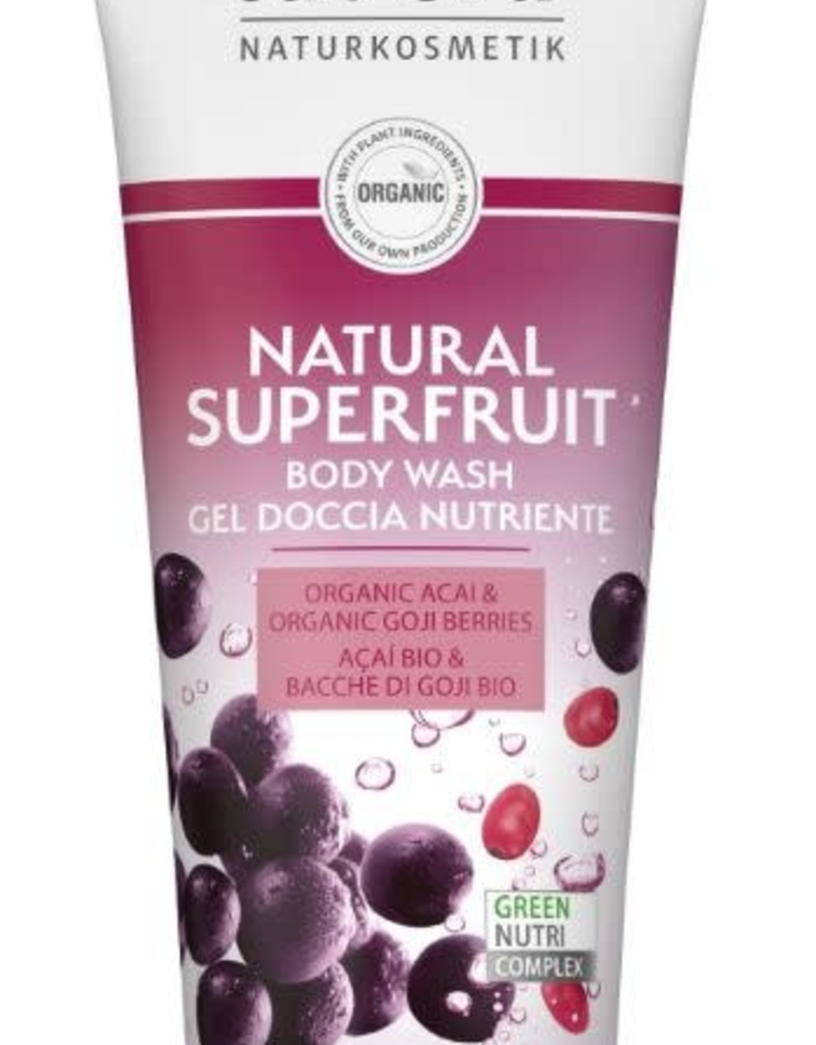 Lavera Douchegel/body wash natural superfruit 200 ml