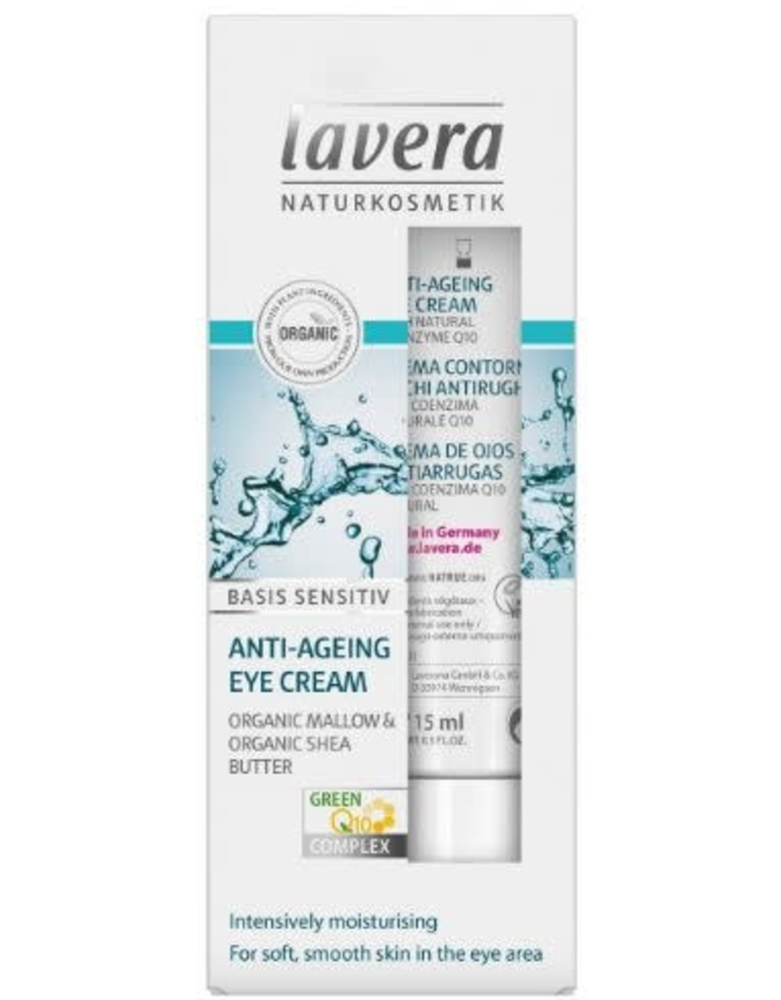 Lavera Basis Sensitiv oogcreme/eye cream Q10 15 ml