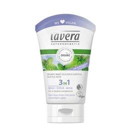 Lavera Was scrub masker/wash scrub mask 3 in 1- 125  ml