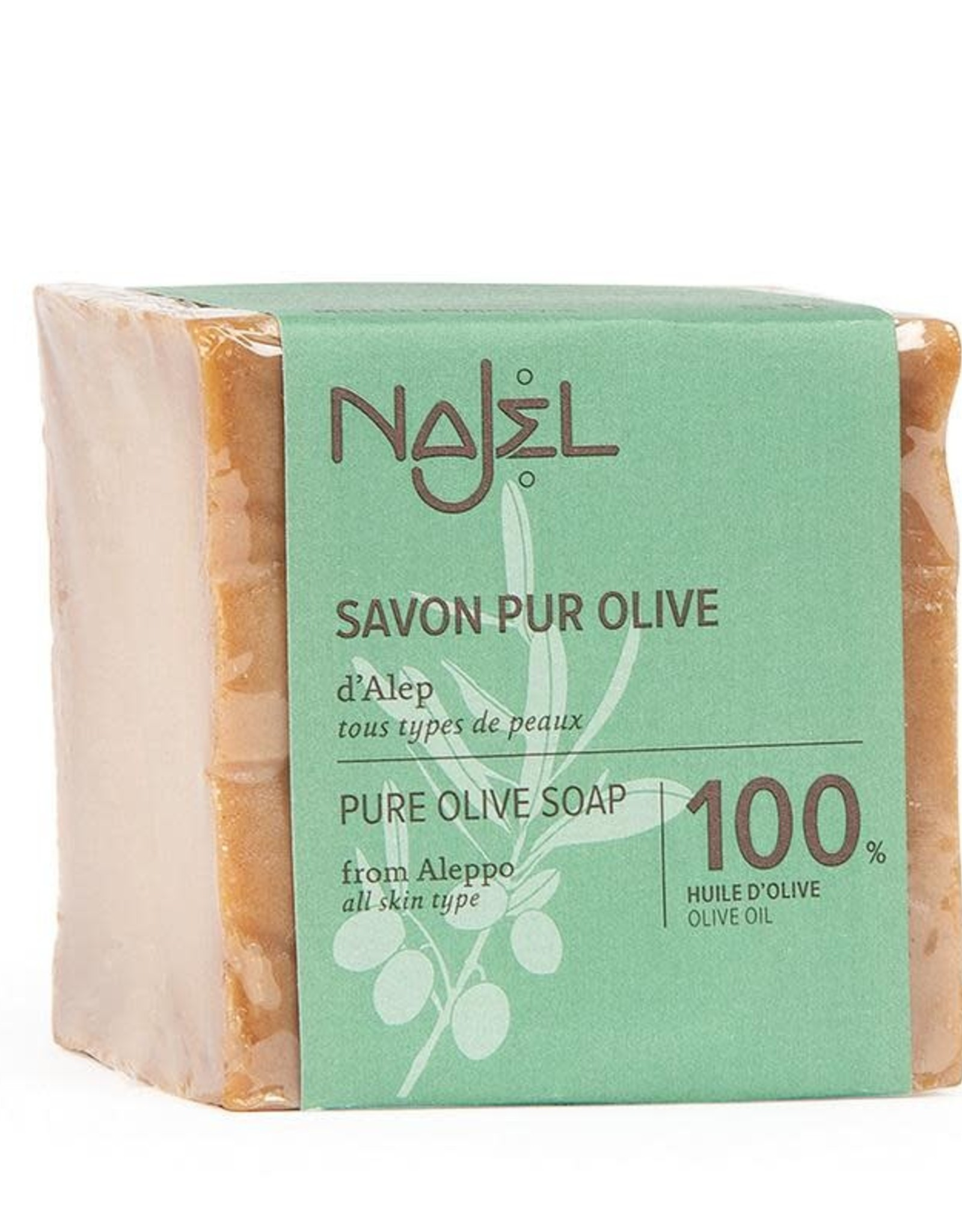 Najel Aleppo zeep olijf olie 100% 200 g