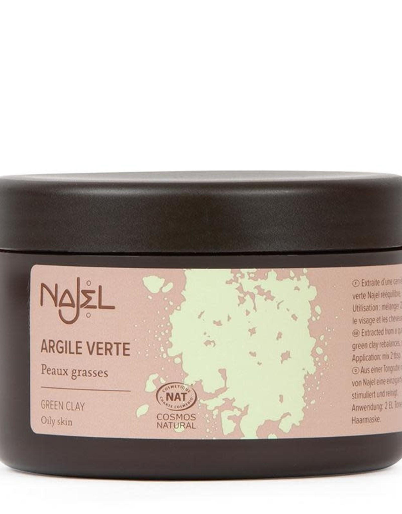 Najel Aleppo gezichtsmasker groene klei 150 g