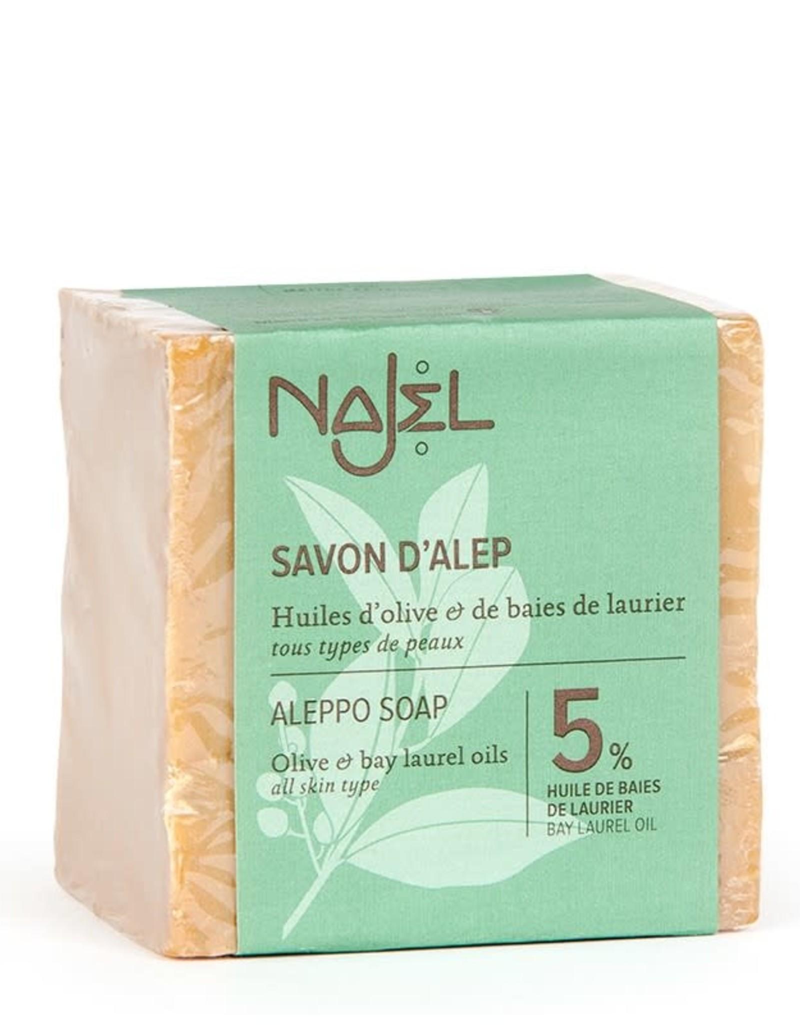 Najel Aleppo zeep olijf + 5% laurierbes 200 g