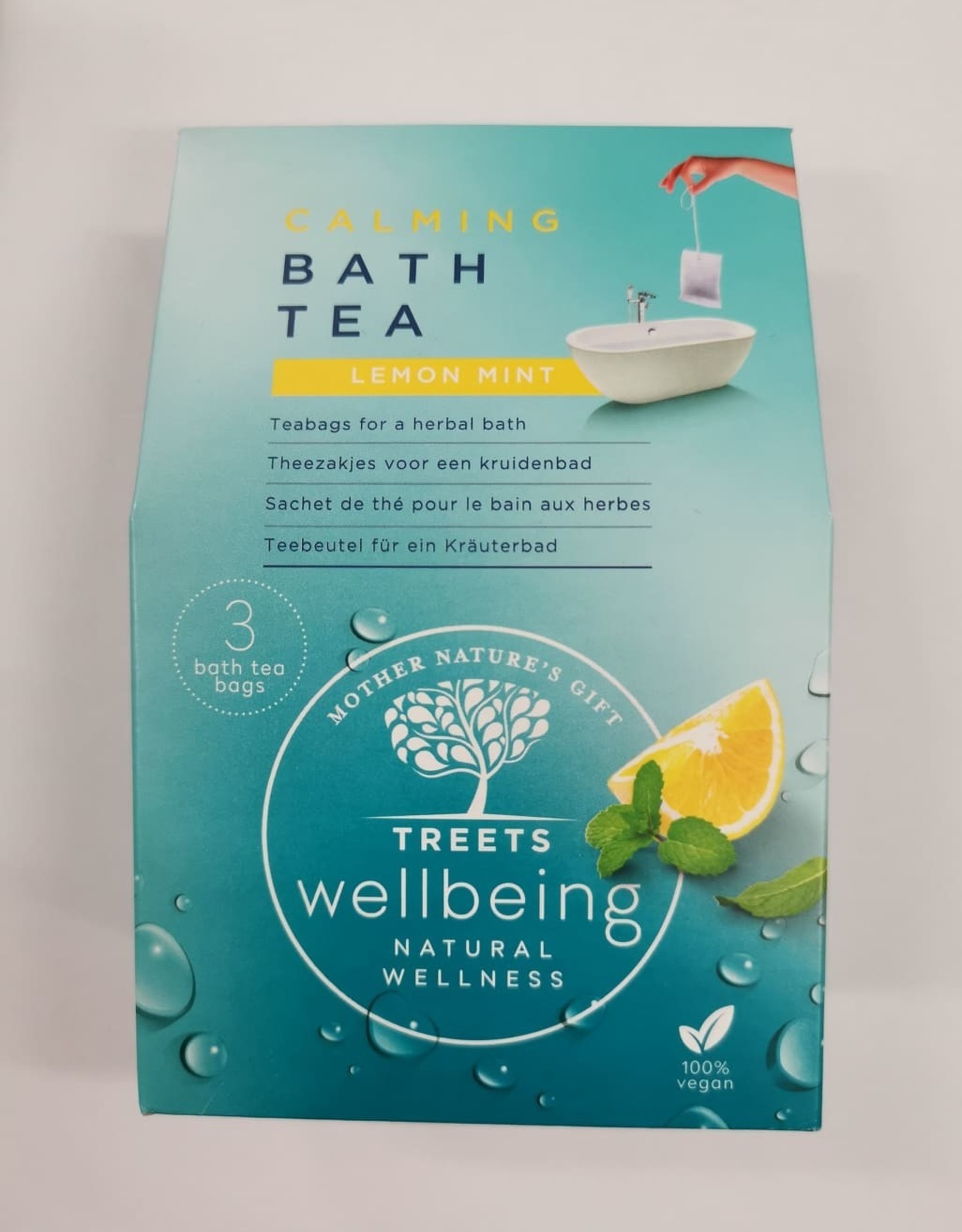 Treets Treets - Bath tea calming wellbeing Lemon Mint 3x 60g