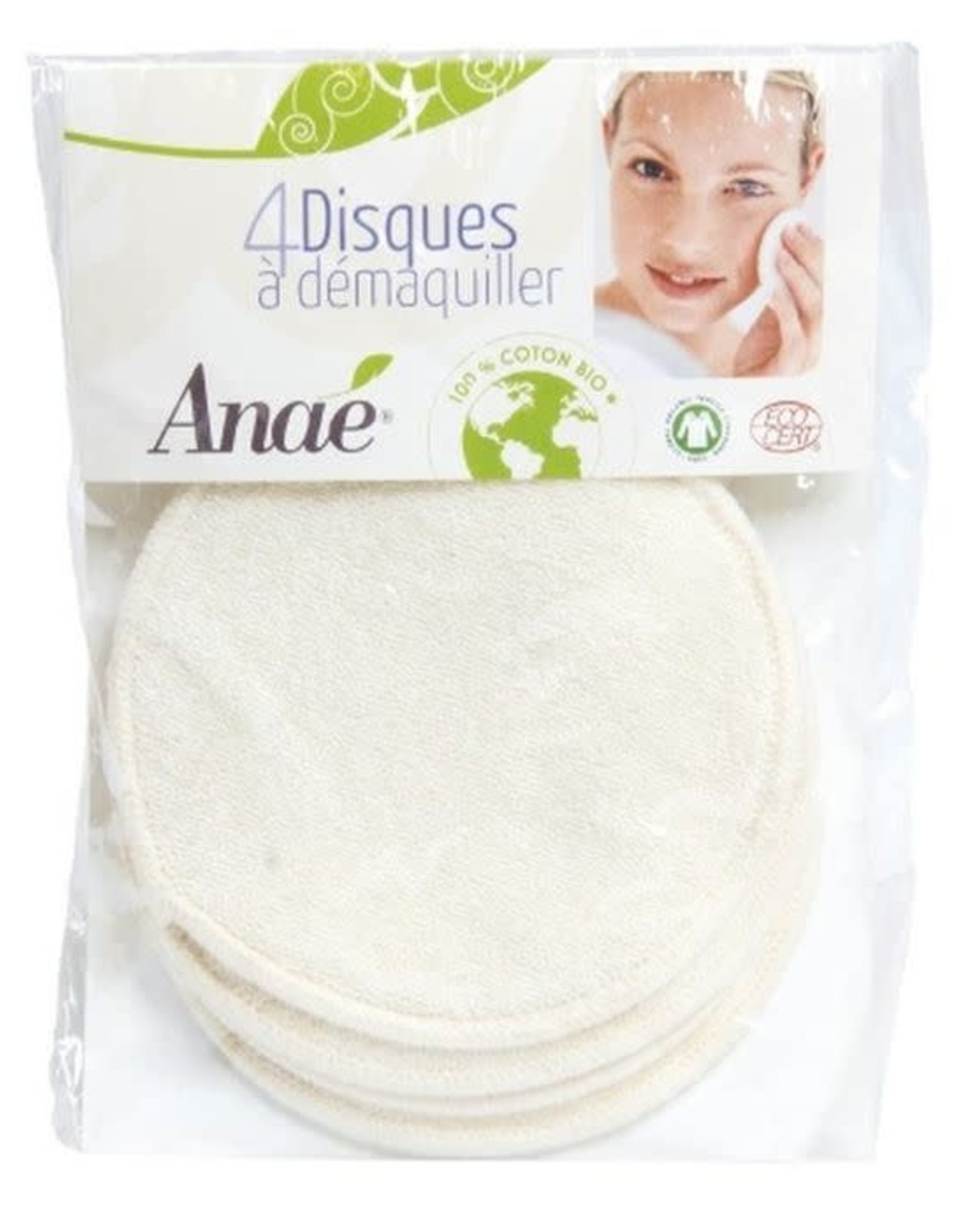 Anae Anae - Wattenschijfjes wasbaar katoen 4st.
