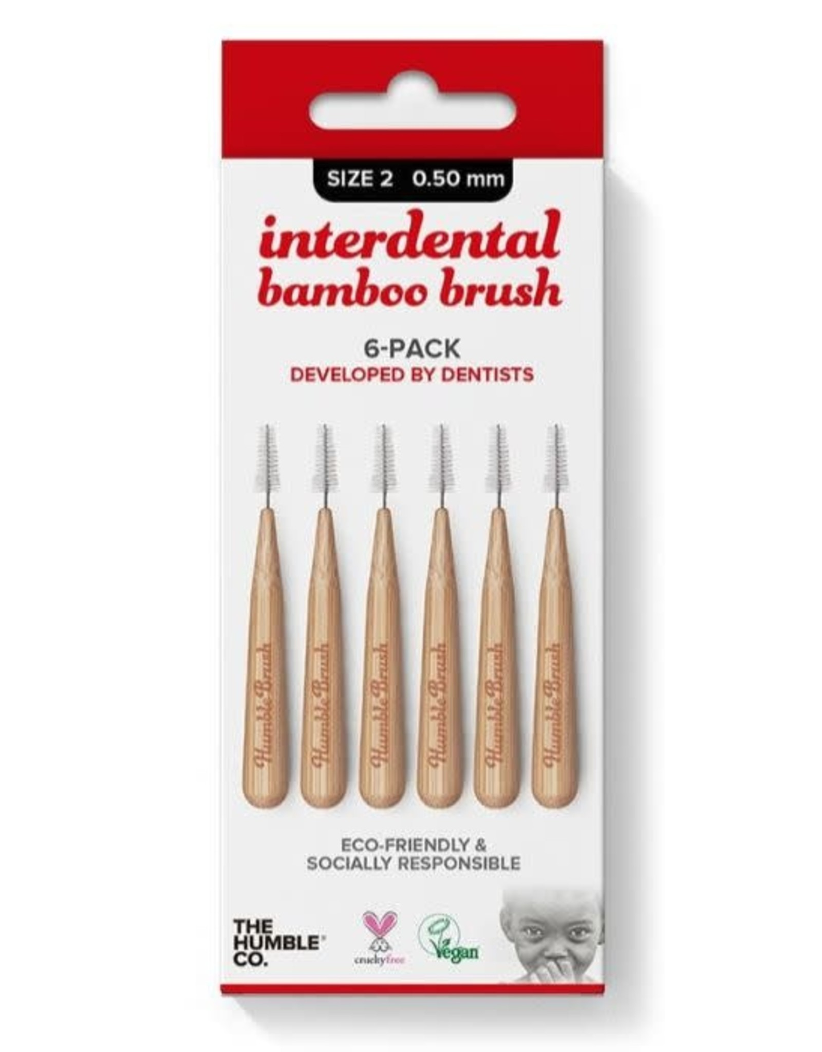 The Humble Co. Humble Bamboo Interdental bamboo brush size 2 - 0,50 mm