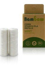 Bambaw Bambaw Corn Starch PLA Dental Floss refills - Mint 2 x 50m