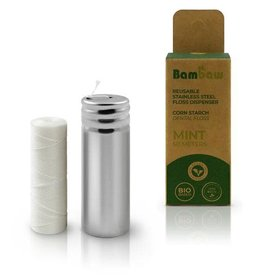 Bambaw Bambaw Corn Starch PLA Dental Floss - Mint 50m