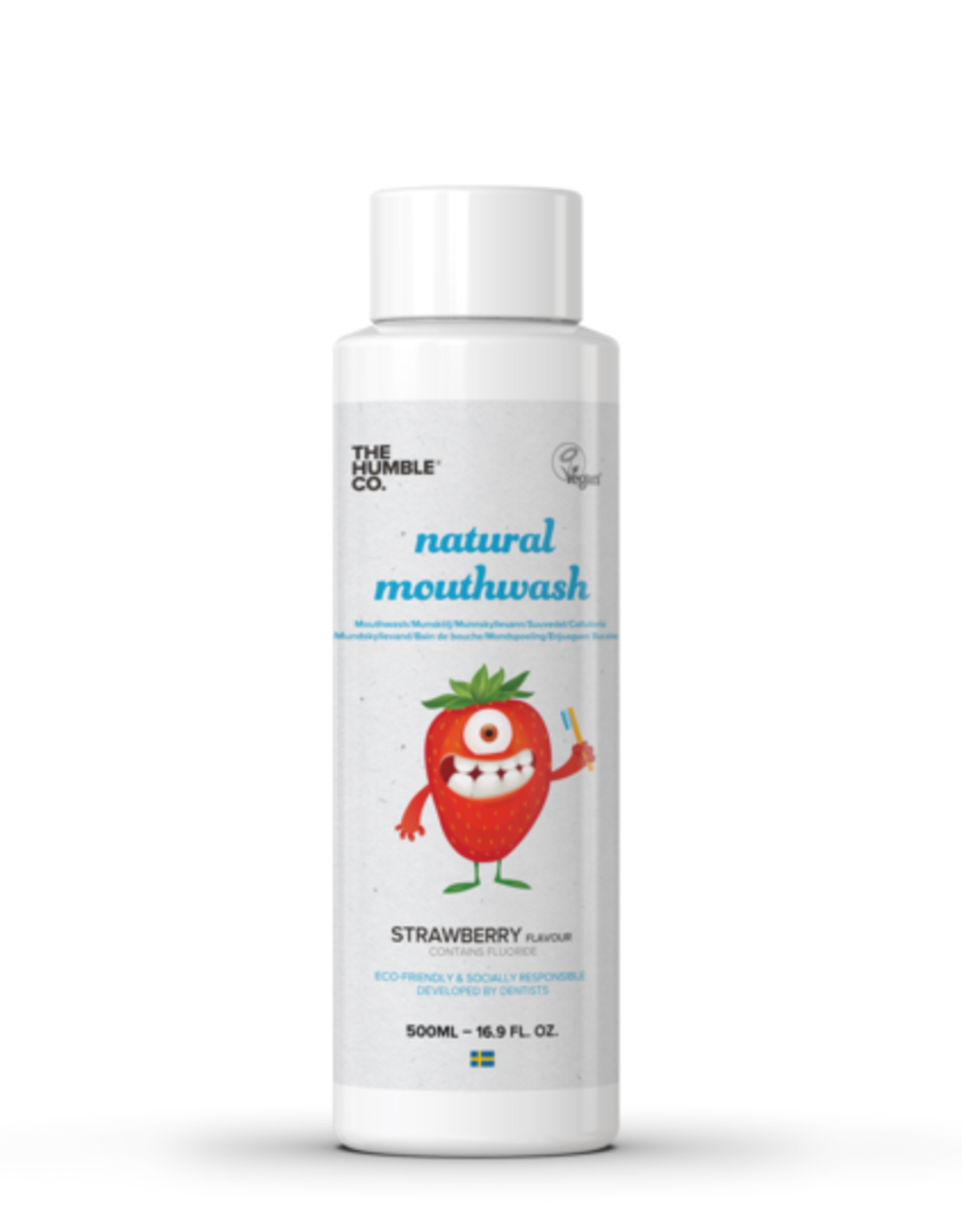 The Humble Co. HUMBLE MOUTHWASH KIDS STRAWBERRY FLAVOUR 500ml