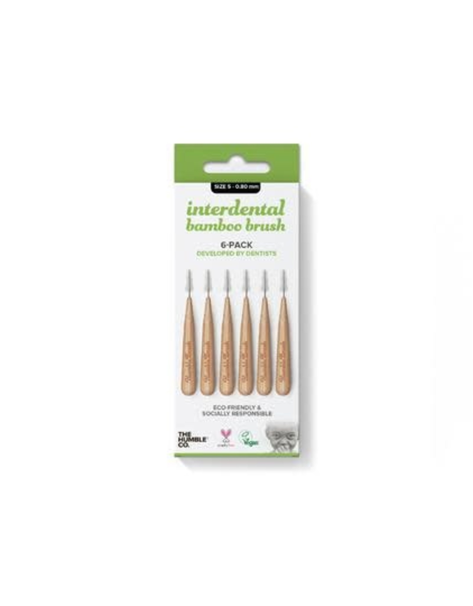 The Humble Co. Humble Bamboo Interdental bamboo brush size 5 - 0,80 mm