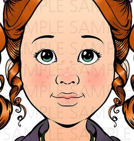 Sparkling Faces Sparkling Faces - Practice Board Nina Size A4 (8,27 x 11,69 inch)