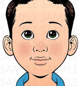 Sparkling Faces Sparkling Faces - Practice Board Alex Size A4 (8,27 x 11,69 inch)