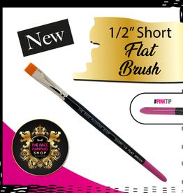 Pink Tips Pink Tips Brush - short 1/2 flat brush
