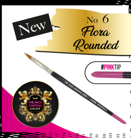 Pink Tips Pink Tips Brush - flora rounded 6