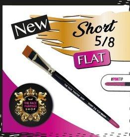 Pink Tips Pink Tips Brush - short 5/8 flat brush