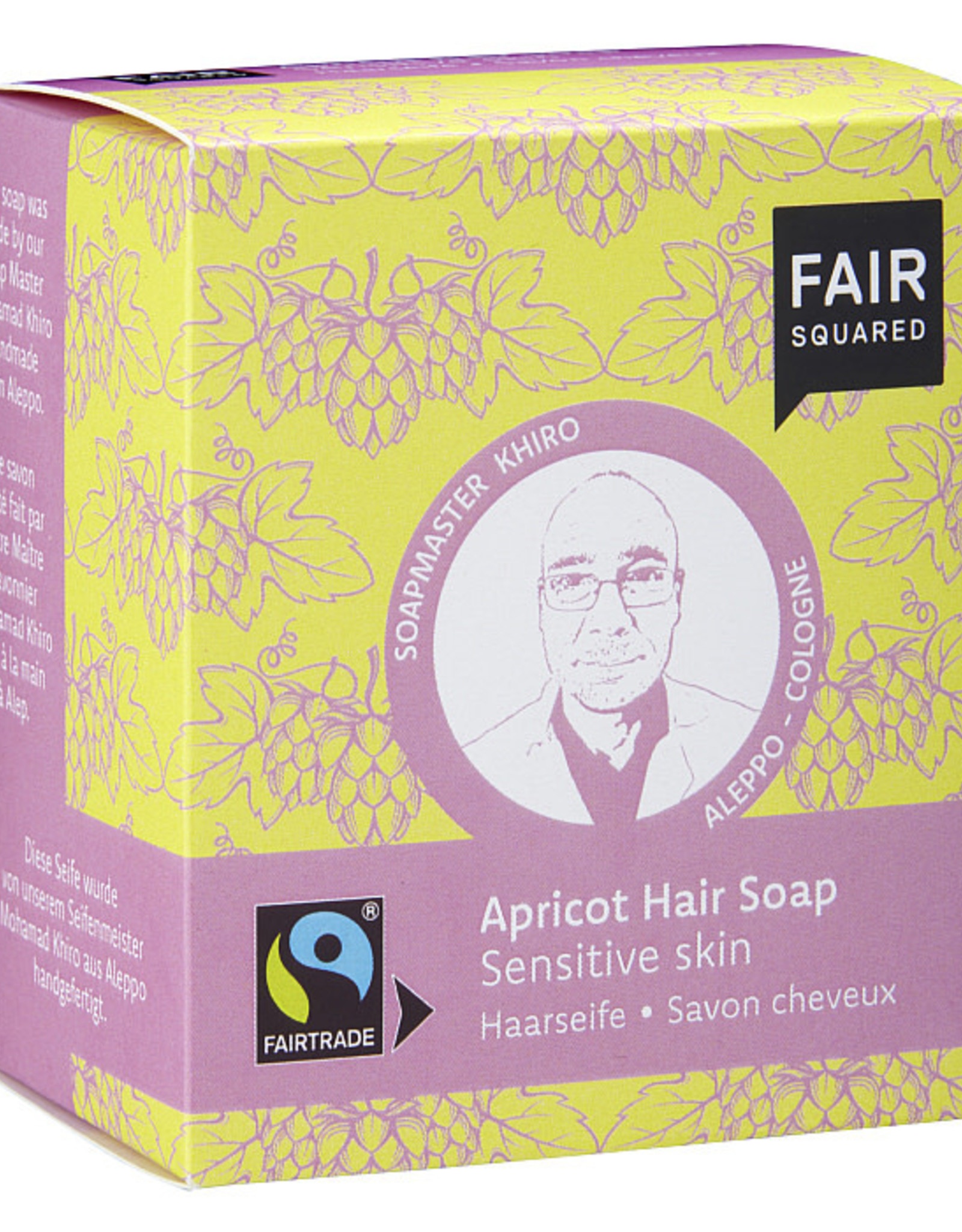 FairSquared FairSquared - Shampoo Bar - Sensitive Skin - Abrikoos 2x 80g - Zero Waste