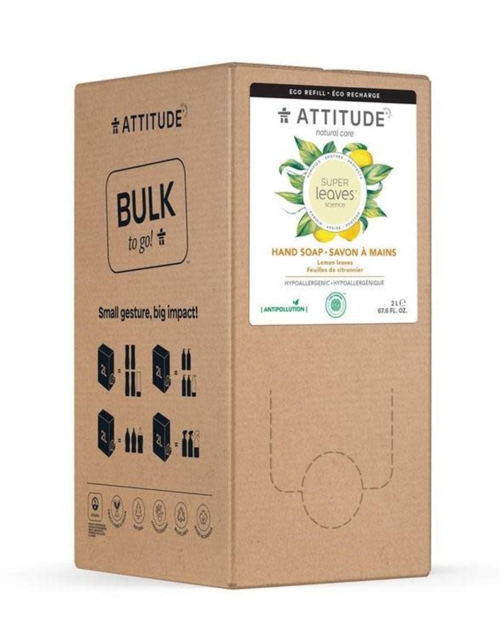 Attitude Attitude Bulk2Go -  Super leaves™ Hand Soap Lemon Leaves 2L