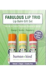 human+kind Lipbalm Vegan Trio 3 x 4.7g