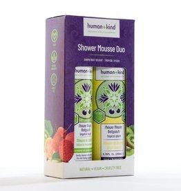 human+kind Showermousse Duo Vegan 2 x 200 ml