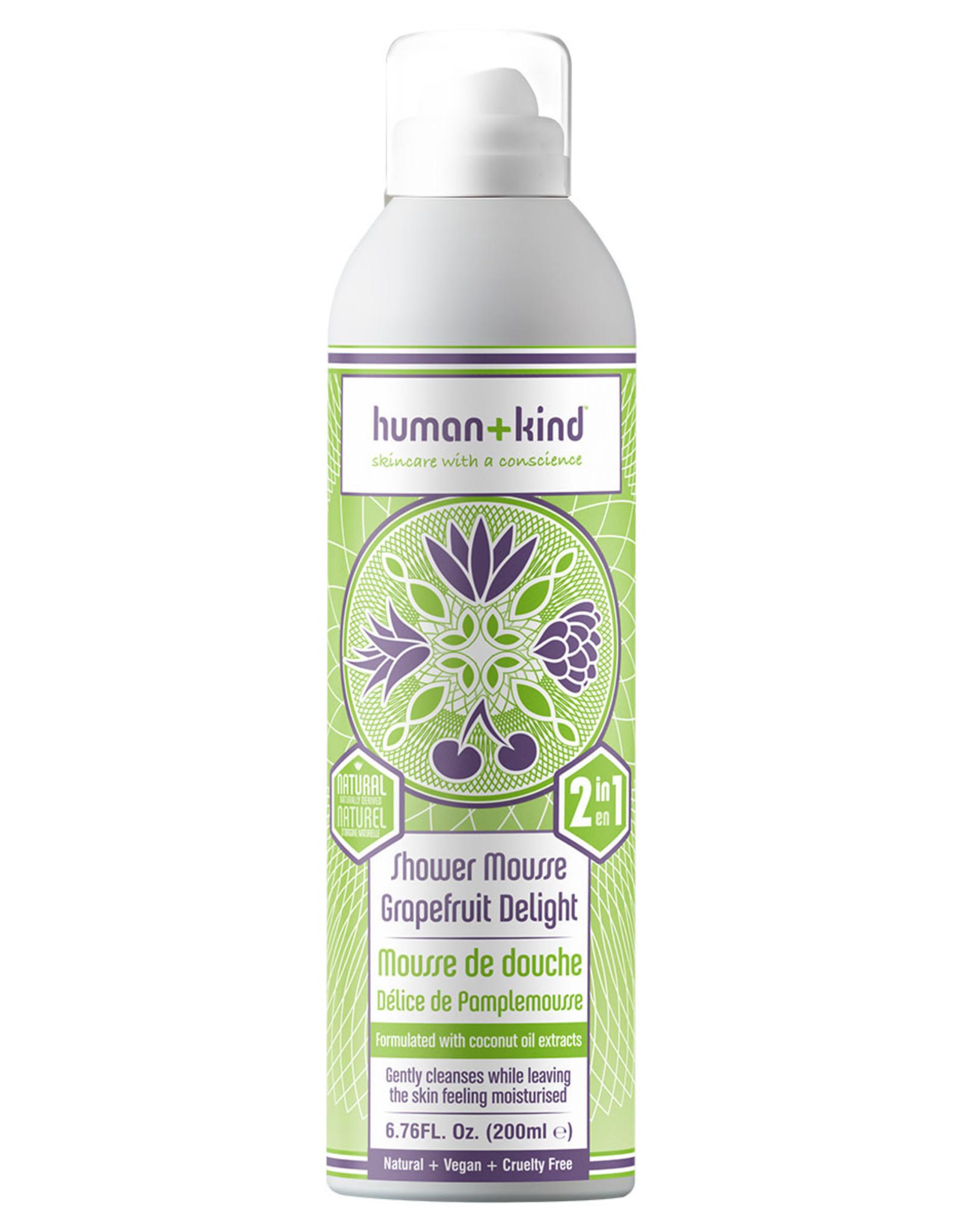 human+kind Foam Shower Grapafruit Delight Vegan 200 ml