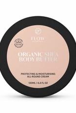 Flow Cosmetics Sheaboter 100% - Verzachtende en beschermende bodybutter 130ml